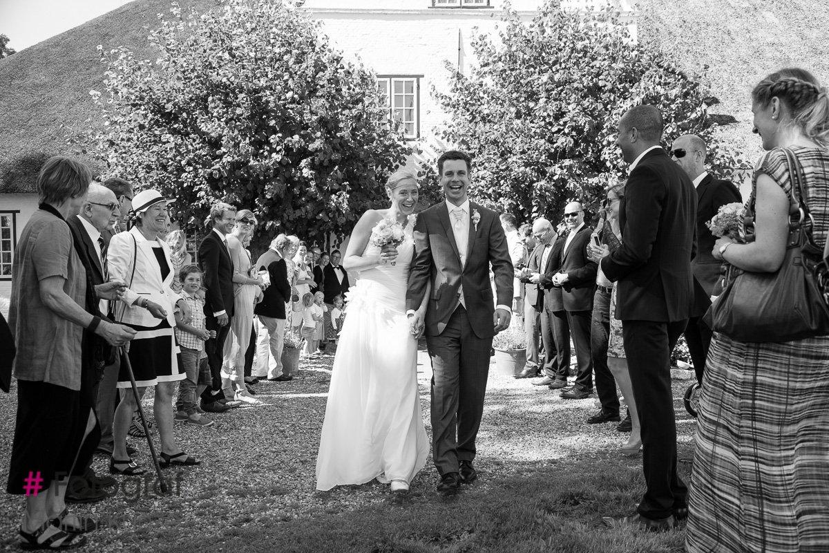 Hochzeitsfoto Roter Haubarg in Witzwort
