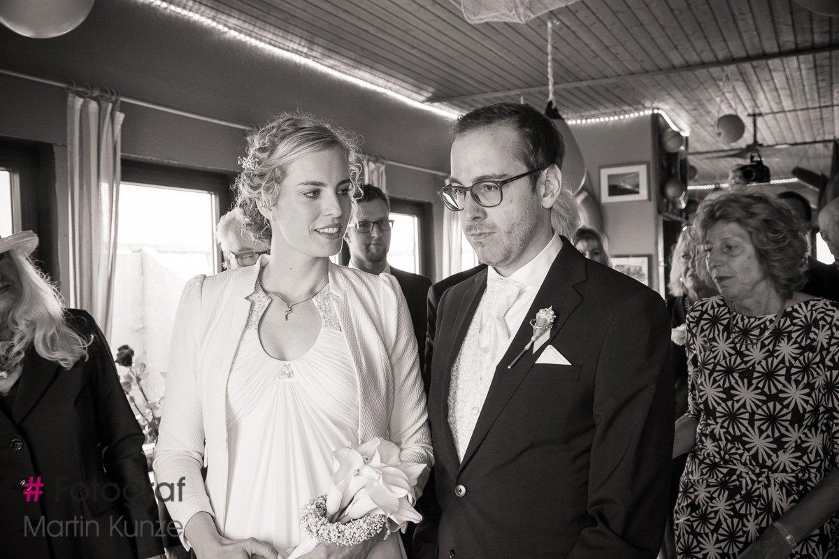 Hochzeitsfoto Standesamtliche Trauung auf der Silbermöwe