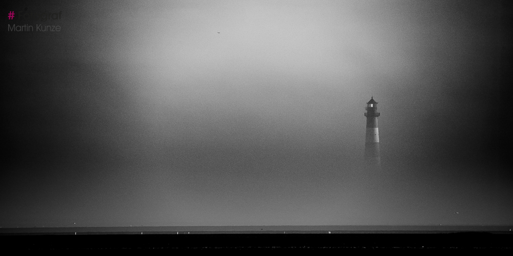 Leuchtturm Westerheversand im Nebel