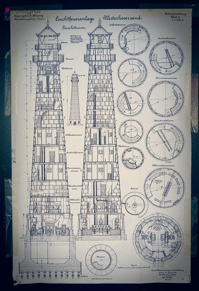 Leuchtturm Westerhever Schematisch